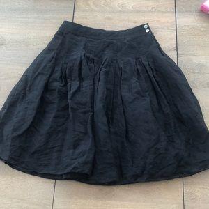 Banana Republic linen silk A line skirt